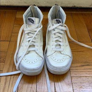 White high top Van sneakers